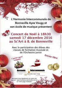 Affiche concert de Noël 2016