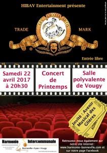 Affiche concert printemps 2017
